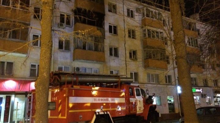 Из-за пожара в уфимской хрущевке эвакуировали 15 человек