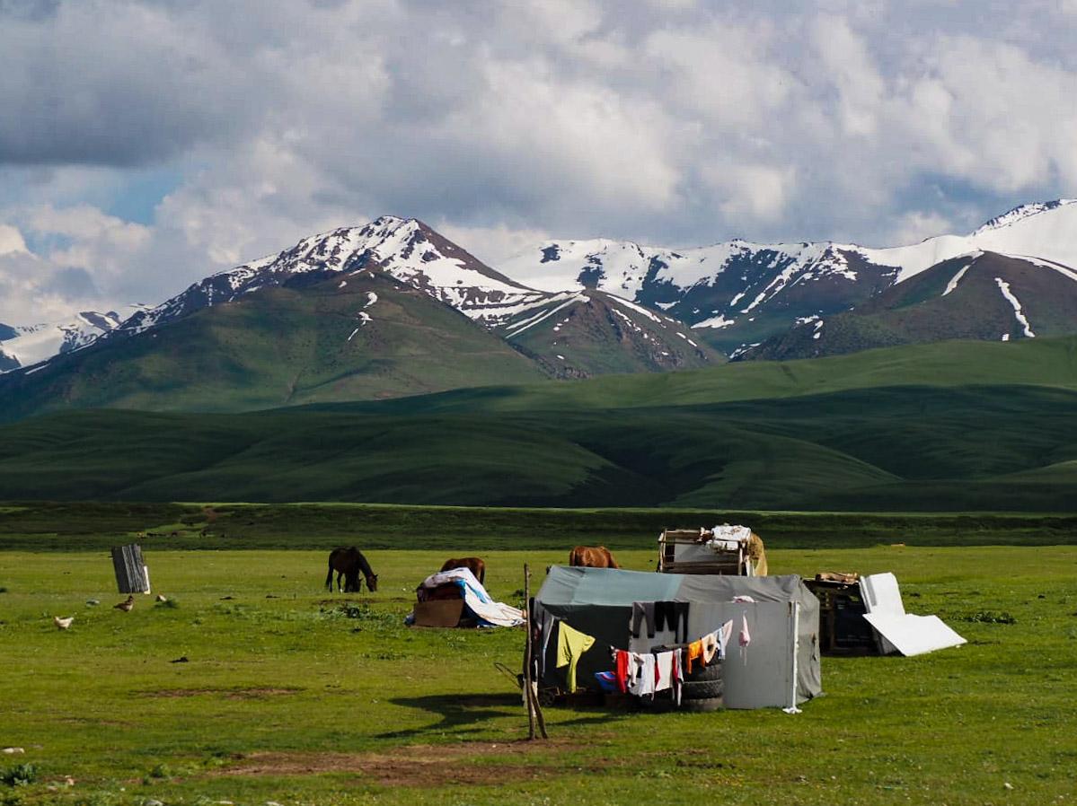Киргизия, окрестности реки Нарын