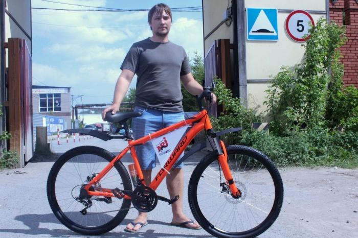 ЕвгенийКаменцев уже получил свой велосипед