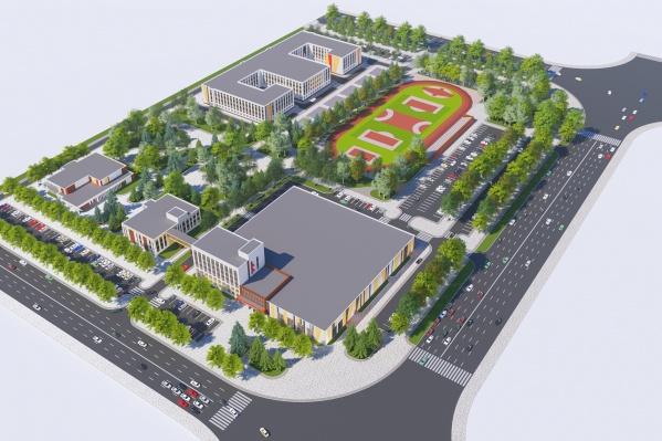 Так выглядит проект центра олимпийской подготовки по хоккею, который должен появиться в Челябинске уже через два года