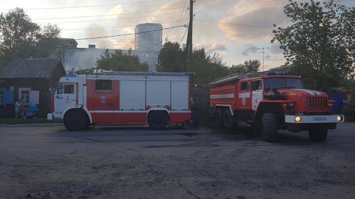В Кургане сгорел жилой дом по улице Климова