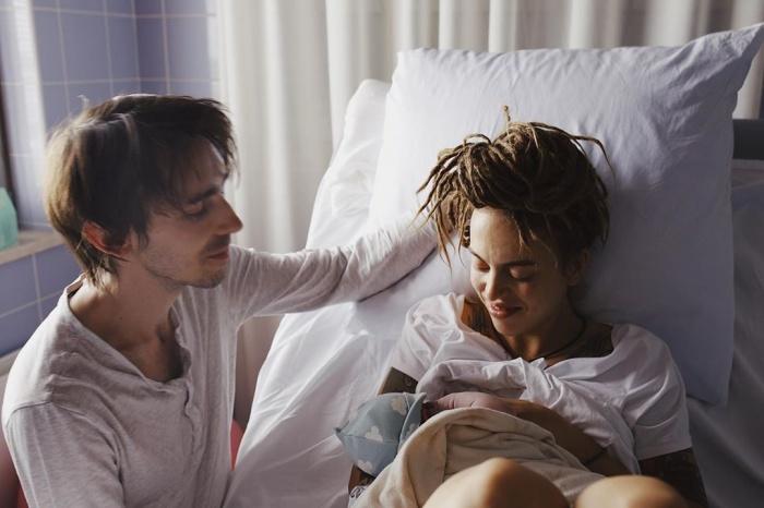 Оля в третий раз родила мальчика