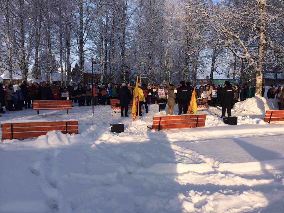 Вот так митинг проходил в Красноборском районе