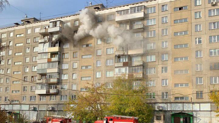 На Затулинке вспыхнула 9-этажка — пострадал один человек