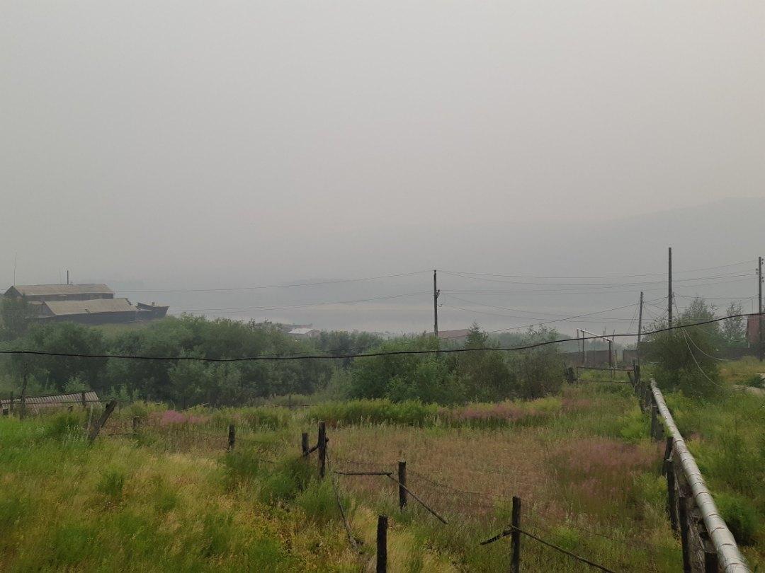 В Туре из-за дымки не видно реки и противоположного берега