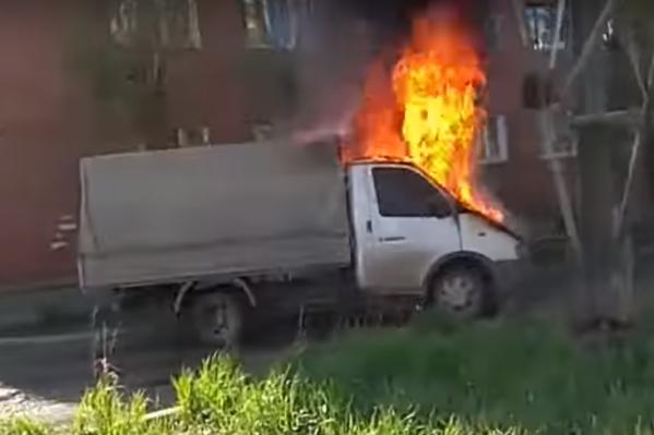 Водителя в момент пожара не было рядом