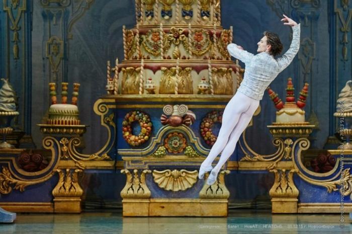 Сергей Полунин на сцене НОВАТа