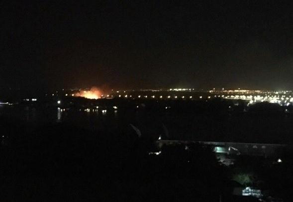 Около «Ростов Арены» загорелся камыш