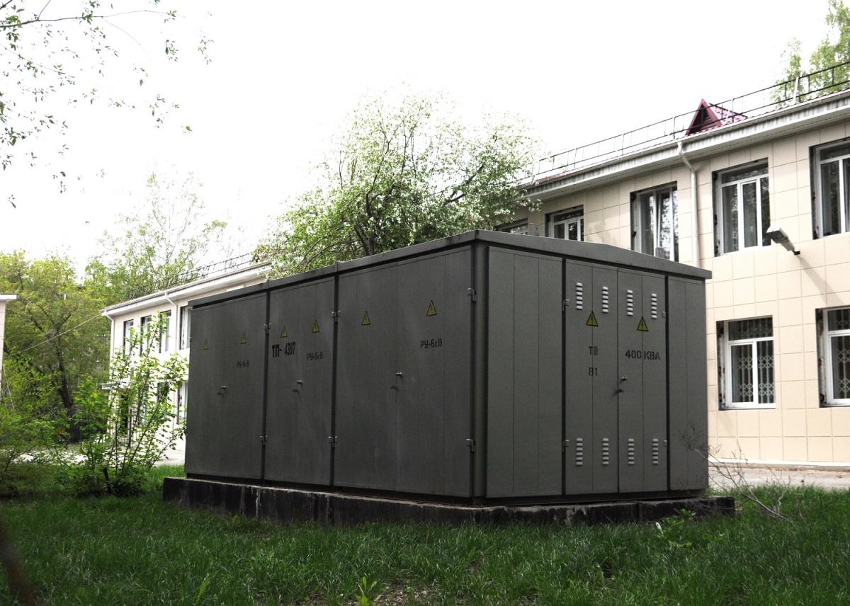 Трансформаторная подстанция на территории центра обработки данных ФМС России