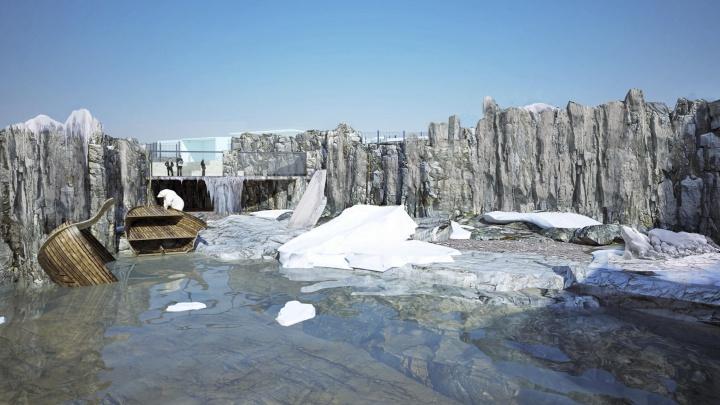 Для белых медведей в зоопарке начали строить огромный вольер с тремя бассейнами по цене особняка