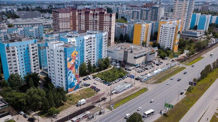 Как в Европе: самарский фотограф снял с высоты граффити на фасадах многоэтажек