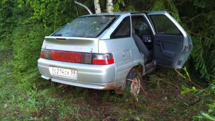 В Прикамье автомобиль съехал в кювет и врезался в дерево: водитель погиб