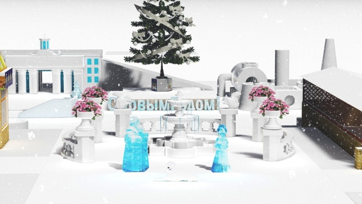 В Советском парке появится снежный лабиринт, похожий на ТЭЦ
