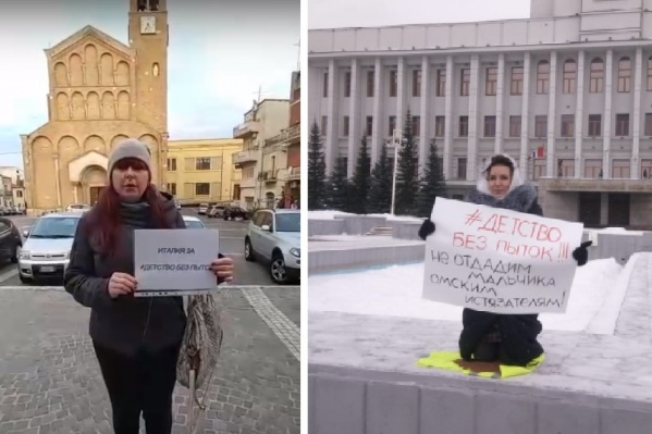 После омской общественницы Алеси Григорьевой (на фото справа) за «Детство без пыток» стали выступать и жительницы других городов