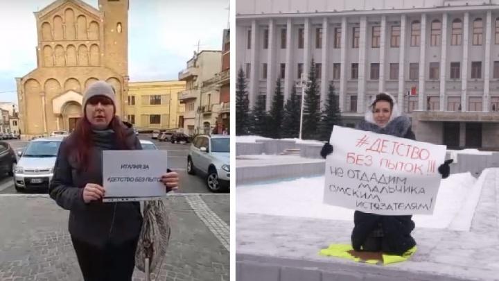Жительница Италии записала видео в поддержку мальчика, которого ставили коленями на гречку