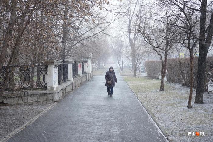 Вот так постепенно в город вернулась зима