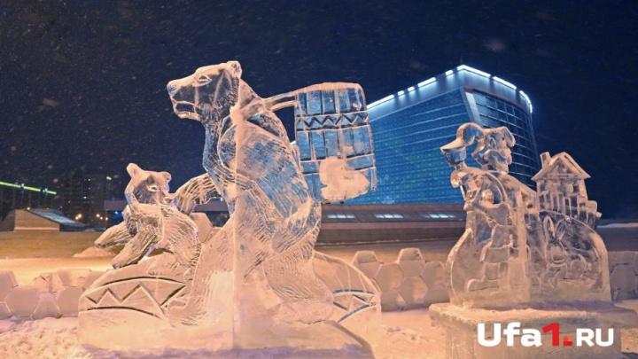 В Уфе из-за аномально теплой погоды закрывают ледовые городки