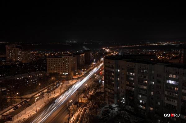 В некоторых районах Самары было видно световые вспышки
