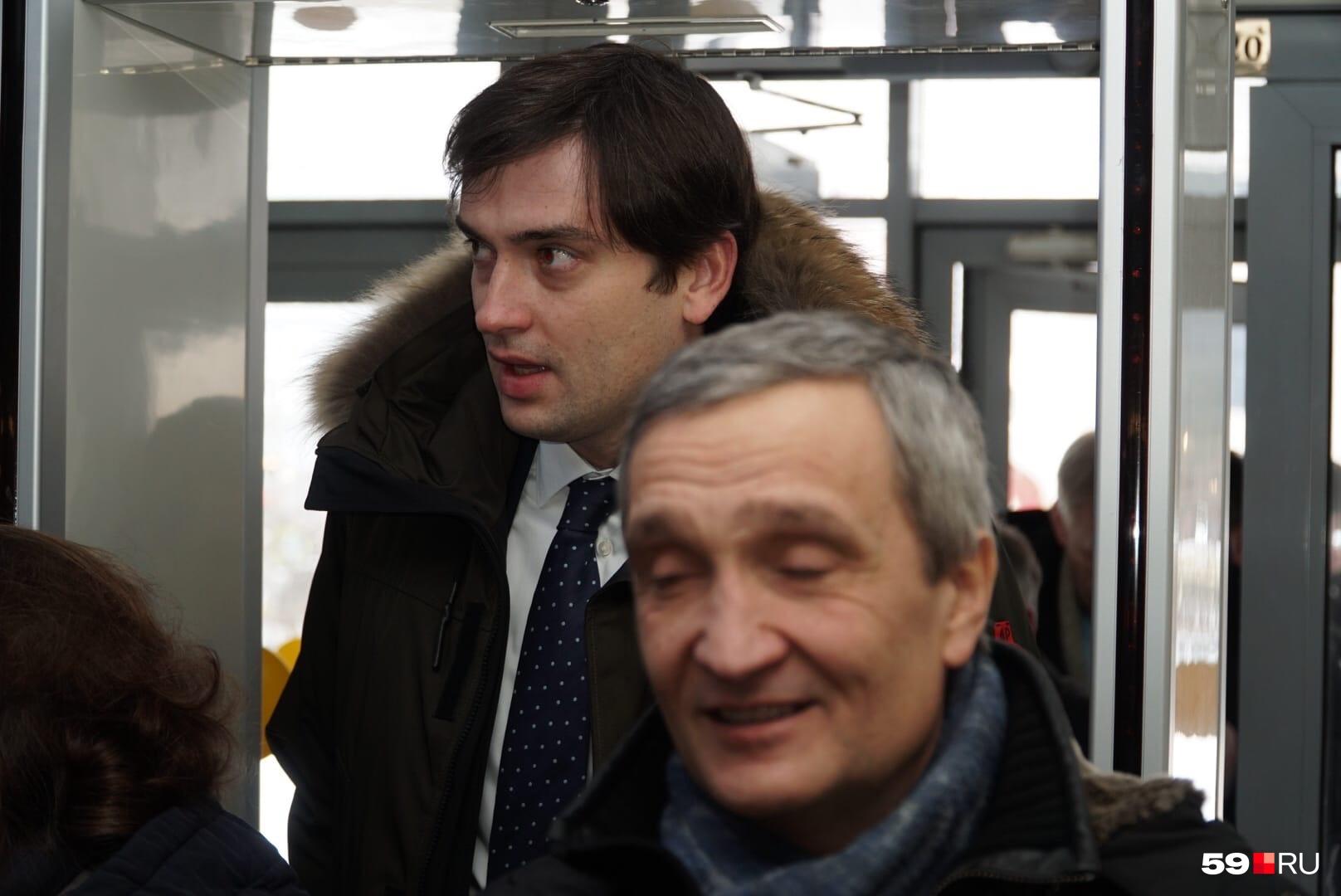 Министр экономического развития Прикамья Максим Колесников, депутат Законодательного собрания Алексей Антипов