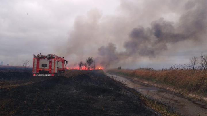 В Ростовской области тушат ландшафтный пожар