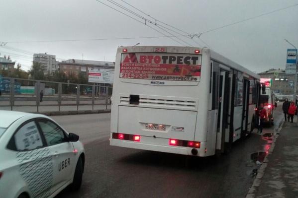 Автобус, в котором произошёл инцидент