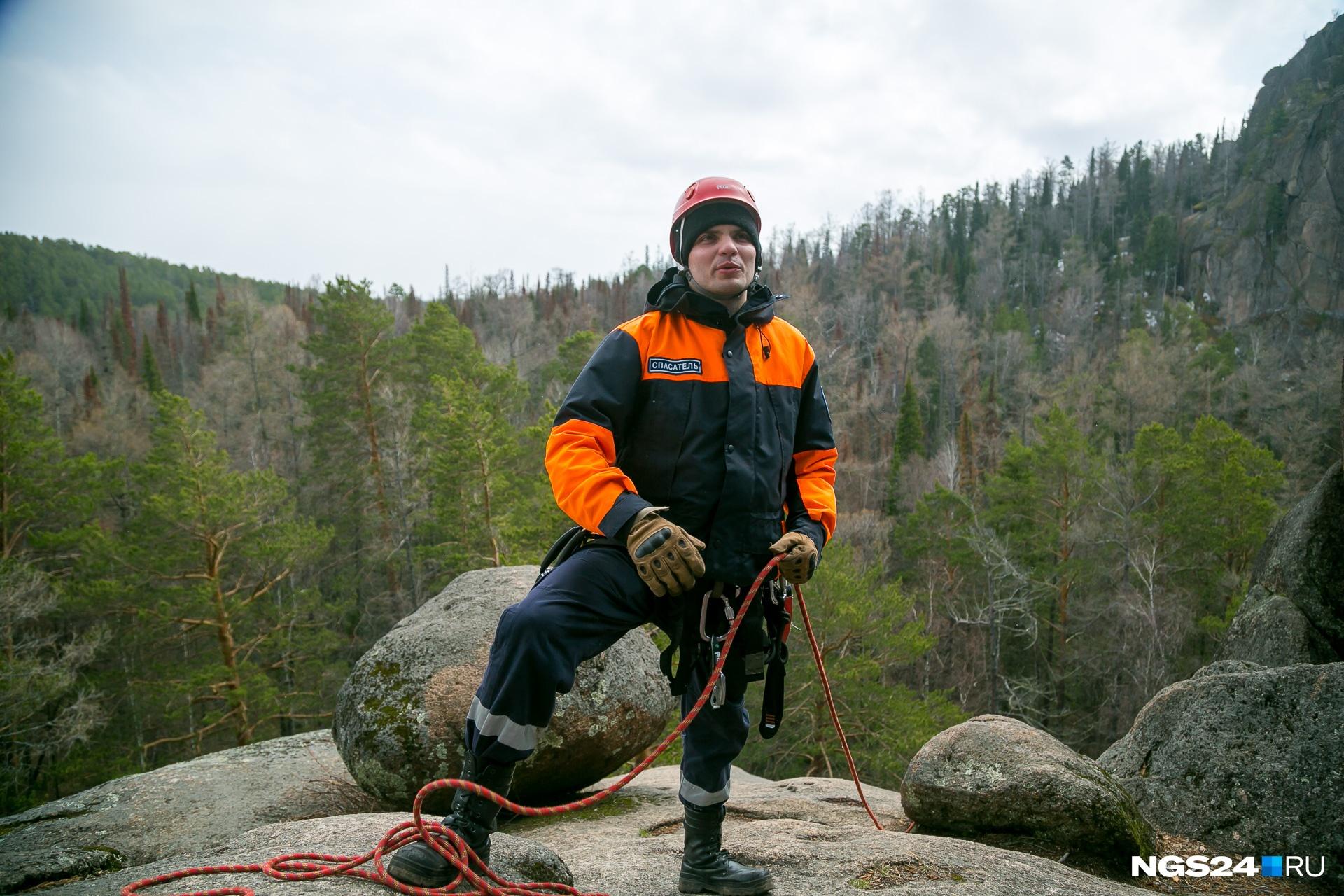 Артем пошел в горные спасатели после службы в армии, затем перешел в отряд «Спасатель»