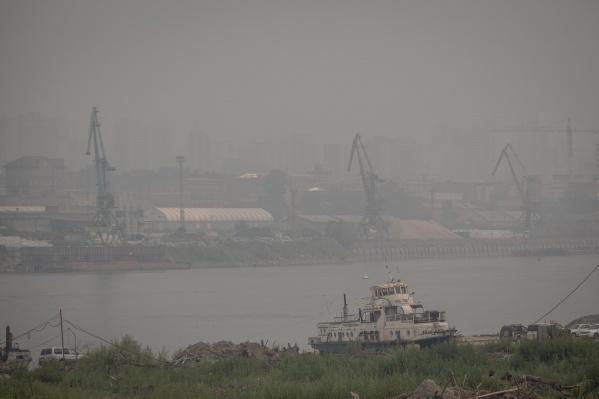 Дым задержится в городе почти до конца рабочей недели