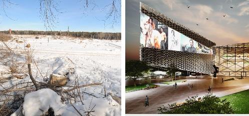 На Космонавтов расчистили земли тепличного хозяйства под огромный торговый центр Козицына