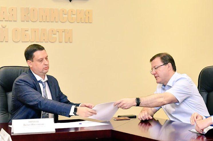 Дмитрий Азаров стал официальным кандидатом напост губернатора Самарской области