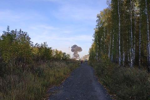 Огненный гриб с места происшествия был виден на много километров вокруг