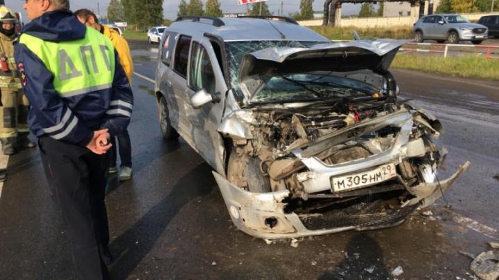 Всемером в одной машине: четыре ребенка пострадали в ДТП на Окружном шоссе в Архангельске