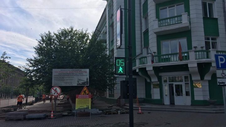 Дорожный ремонт в Красноярске: Ленина сделать до Дня города не успевают, на Мира будет праздник