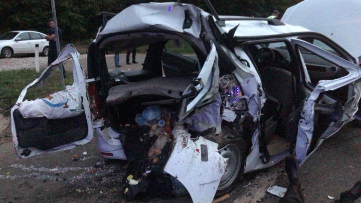 Момент смертельного ДТП на трассе в Башкирии попал в объектив видеорегистратора