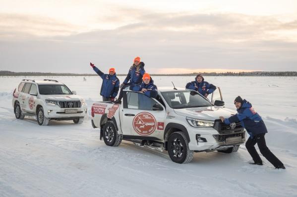 Весь путь от Перми до Ямала и обратно путешественники преодолели на внедорожникахToyota