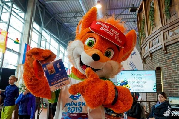 Европейские игры начнутся 21 июня в Минске. На фото талисман турнира — лисёнок Лесик