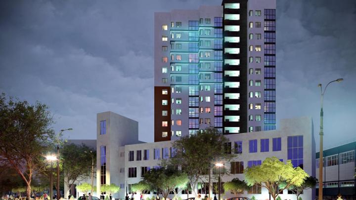Он жилой и светится: в Екатеринбурге построят высотный дом-светлячок