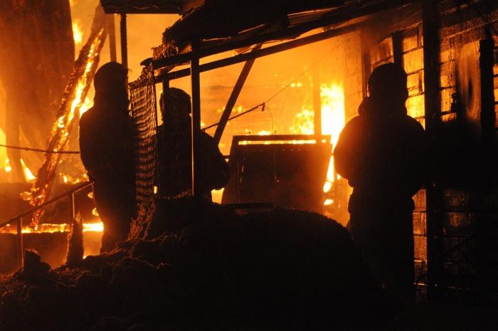 Пострадавший в пожаре мужчина был госпитализирован в ГКБ  № 2  в тяжёлом состоянии
