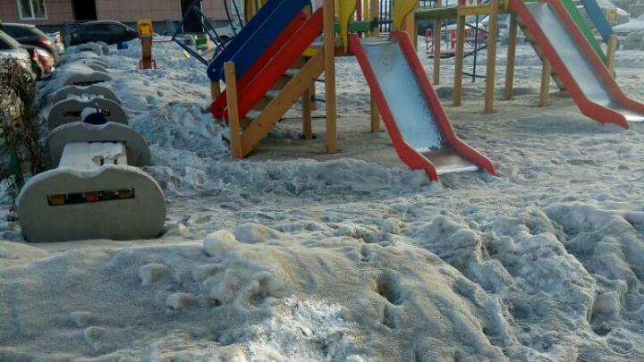В Первомайском районе выпал чёрный снег