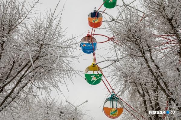 Белым снегом укутало даже ветви деревьев