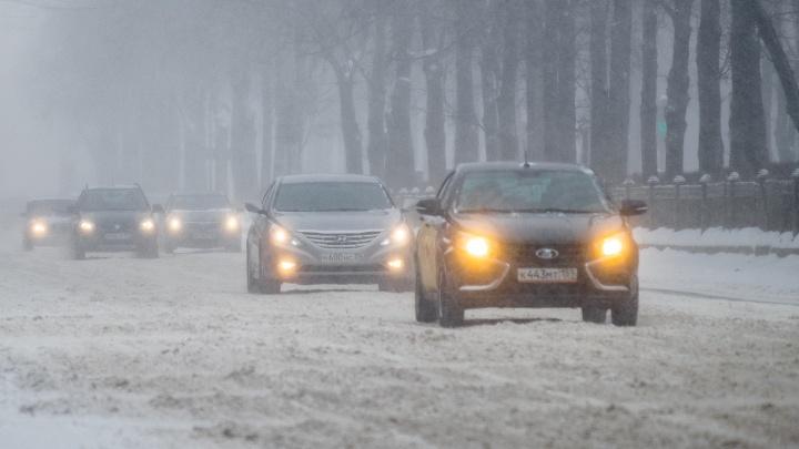 МЧС: в Прикамье ожидаются сильный снег и штормовой ветер