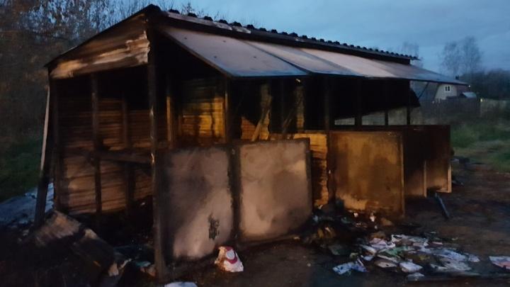 В Перми сожгли пункт раздельного приема отходов
