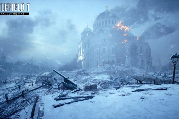 В игре бои проходят внутри Александро-Невского собора