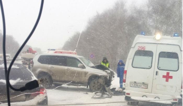 Массовая авария под Уфой: в ДТП  попали сразу 8 машин