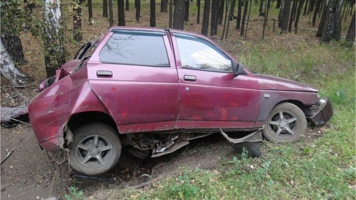 Автоледи съехала в кювет в Кетовском районе