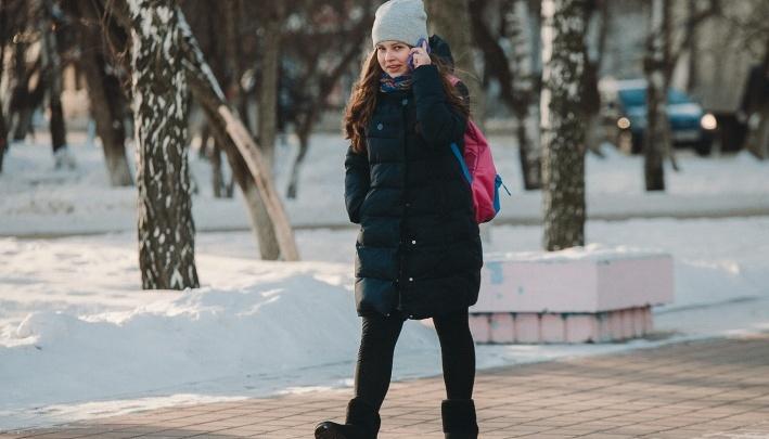 Первая актировка: младшеклассникам отменили занятия из-за морозов в Тюмени