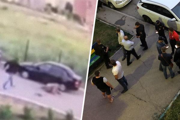Преступление произошло во дворе домов, в одном из которых, предположительно, жил Илья Тягун
