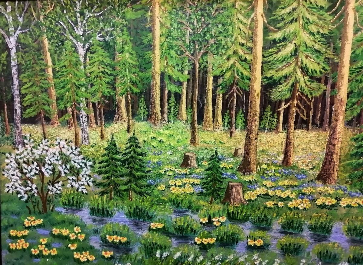 «Болото в лесу», 1983 год