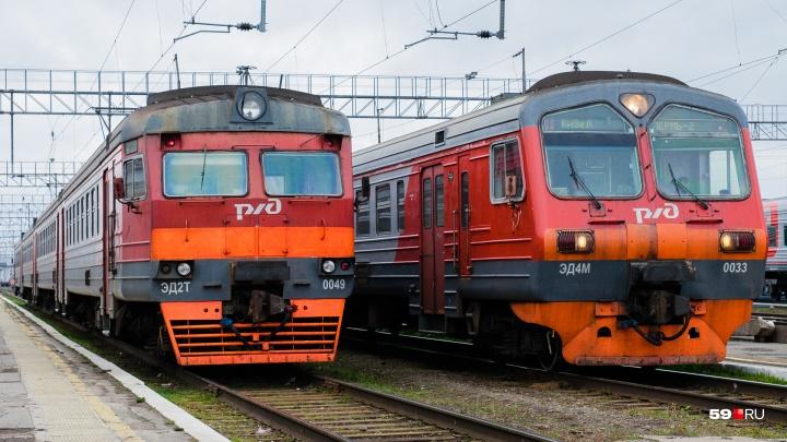 В Прикамье из-за схода вагонов грузового поезда отменили три электрички