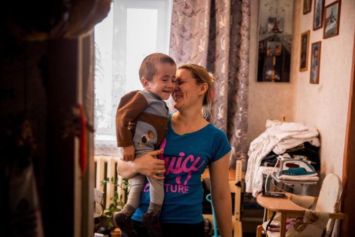 Семён с мамой Людмилой