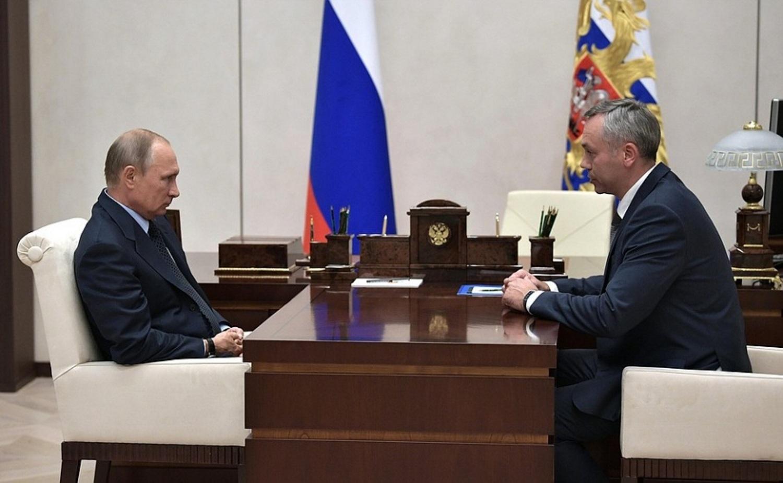 Травников на встрече с Путиным, гдеобсуждалась его новая должность